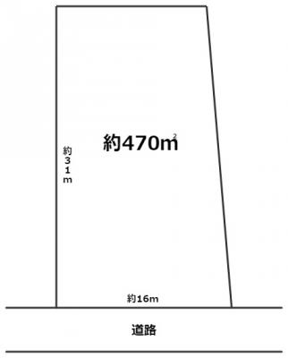 【区画図】柏井町4丁目 貸地
