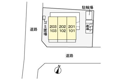【区画図】サイドパーク湘南