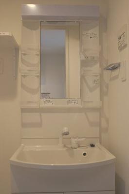 「あると便利な独立洗面台です」