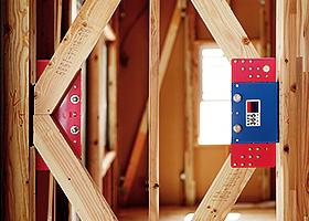 制震装置設置住宅です。