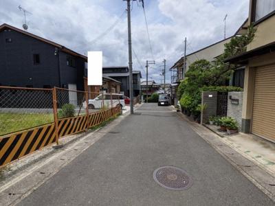 【前面道路含む現地写真】京都市山科区小山小川町 B号地