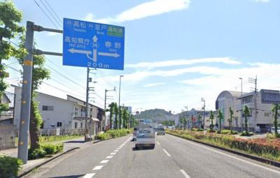 【前面道路含む現地写真】高知市東城山町
