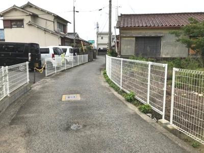 【前面道路含む現地写真】【売地】西脇中学校区・56659