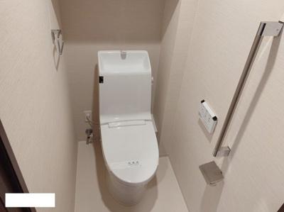 手すり付き高機能トイレ