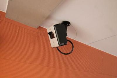 防犯カメラ。