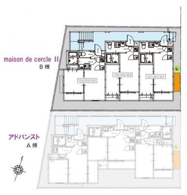 【区画図】maison de cercle Ⅱ(メゾンドセルクルツー)