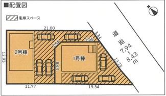 【区画図】沼津市西間門第6 新築戸建 1号棟