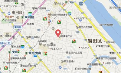 【地図】シャトー墨田