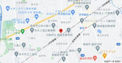 【地図】富田丘町テラスハウス (株)Roots