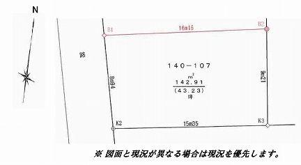 【土地図】世田谷区松原5丁目 売地