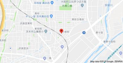 【地図】グランドハイツ小柳