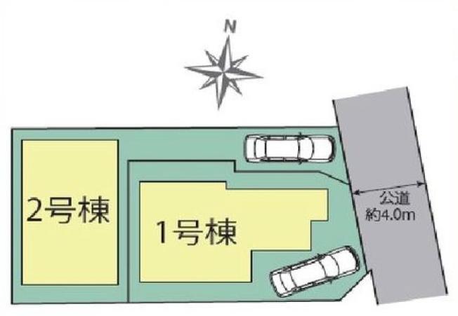 【区画図】仲介手数料無料 中野区白鷺2丁目新築一戸建て