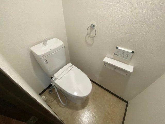 冬は便座も温水も温かく快適なシャワー付トイレ