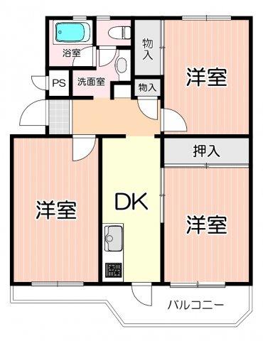 室内リフォーム・クリーニング済の綺麗な1階部分の3DKのお部屋です。