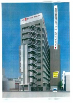 エレベータ機械式タワーパーキング、月極・ユニゾホテルの東隣接・新幹線・改札口まで、600㎡