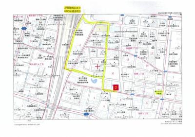 【地図】宿郷一丁目エレベータ・タワー月極駐車場