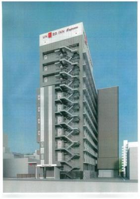 【外観パース】宿郷一丁目エレベータ・タワー月極駐車場