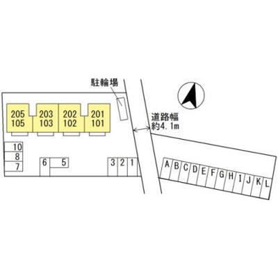【区画図】コートダジュール嶋