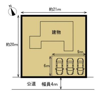 【区画図】土浦市並木2丁目 中古戸建