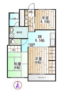 3DKの住みやすいお部屋です 設備も充実してます。