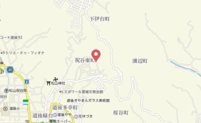 【地図】Sora-La祝谷 弍番館