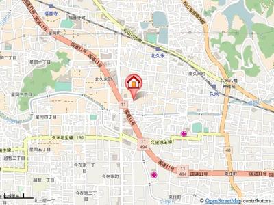 【地図】ユーミー乃万Ⅱ・