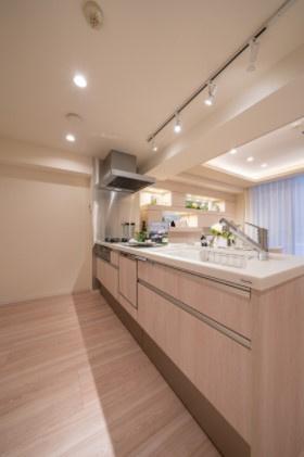 エフローレ日本橋:あると便利な食器洗浄機付きの対面式システムキッチンです!