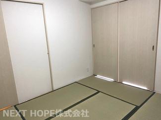 和室6帖です♪フスマをオープンにしていただくと、リビングからの広がる空間を確保できます!