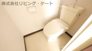 温水便座付きトイレです。