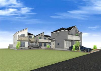 【外観パース】A167 新築戸建 立川市上砂町3丁目 全3棟 3号棟