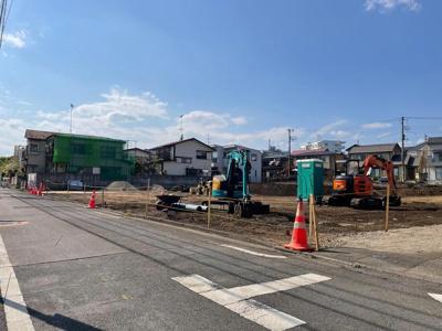 【前面道路含む現地写真】A168 新築戸建 立川市錦町5丁目 全18棟 R号棟