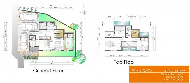 建物参考プランです。お好みな間取をご提案致します。