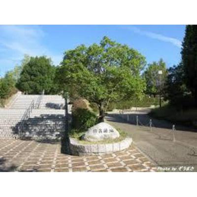 公園「新栄緑地まで438m」
