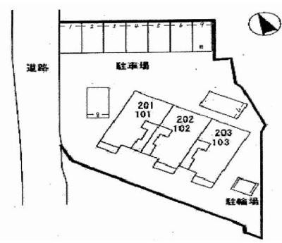 【区画図】ウィルヴェスティージ弐番館
