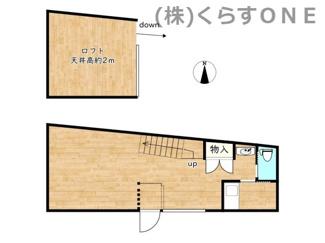 2階にロフトがあります。