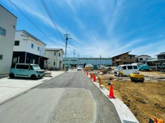 【前面道路含む現地写真】長泉町下長窪第1 新築戸建 3号棟