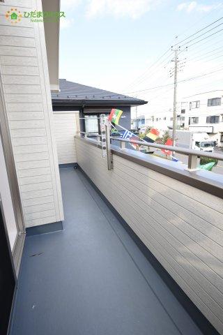 【バルコニー】上尾市井戸木3丁目 新築一戸建て 01