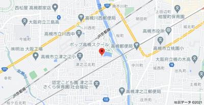 【地図】ポップ高槻 (株)Roots