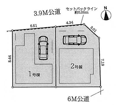 【区画図】名古屋市中村区名駅南5丁目2−1 【仲介手数料無料】新築一戸建て 1号棟