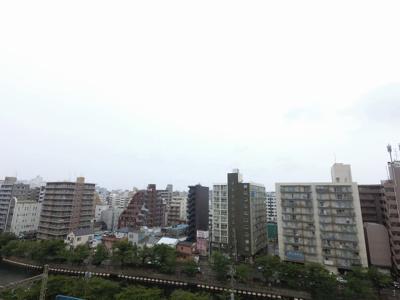 9階部分からの眺望です。 前面に建物がなく開放感◎