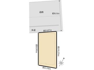 【区画図】新築一戸建 川崎市幸区北加瀬3丁目 1号棟