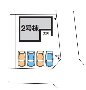 【区画図】高崎市吉井町馬庭 2号棟