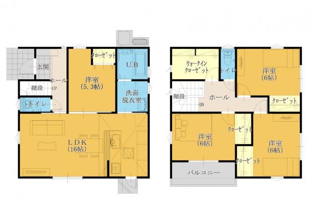【32坪5LDK】 数少ない5LDKモデル!全居室フローリング設計です。