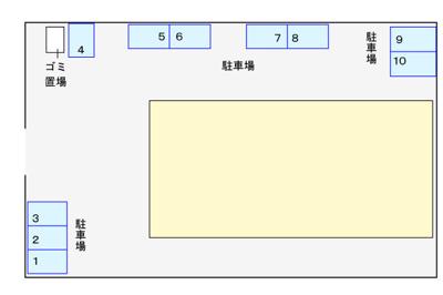 【区画図】桧台ハイツ