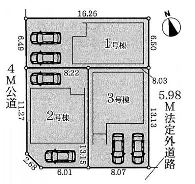 【区画図】名古屋市緑区鳴丘1丁目2140 【仲介手数料無料】新築一戸建て 1号棟