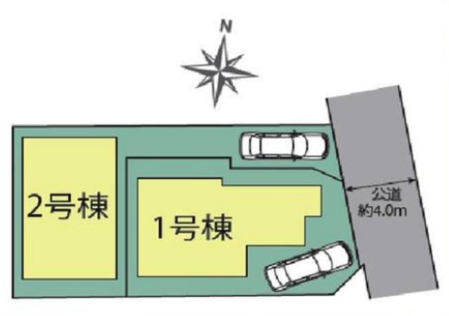 【区画図】中野区白鷺2丁目 7,280万円 新築一戸建て【仲介手数料無料】