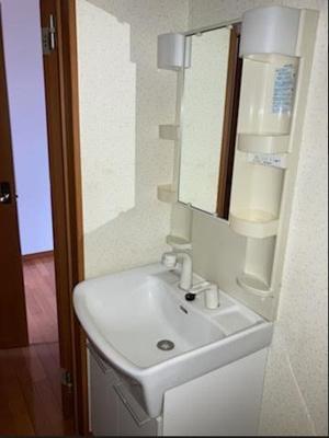 スペースが確保できる洗面所です*参考写真