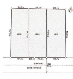 【区画図】新築一戸建 川崎市幸区古市場一丁目 1号棟