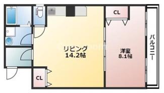 1LDK 45.5平米