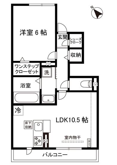 1LDKタイプはキッチンと寝室を分けたい方におすすめです☆カップルさんや新婚さんにも大人気!全室フローリングなのでお掃除もラクラクですね♪